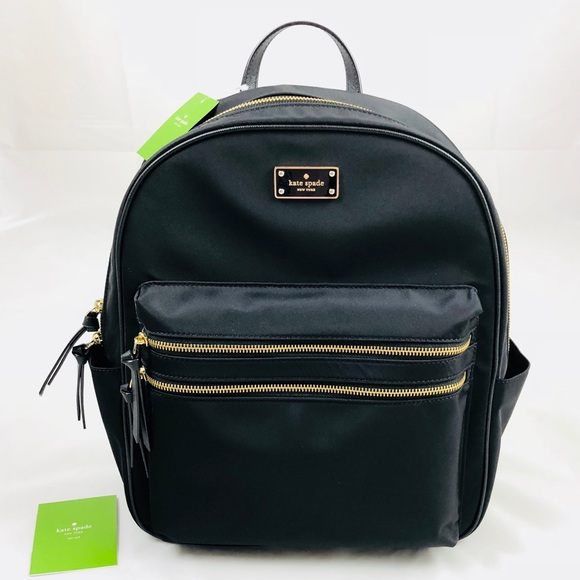 c0a7a225fdcb Kate Spade Large Nylon Laptop Backpack Black